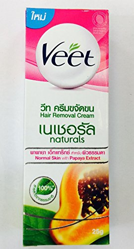 Veet Hair Removal Cream Naturals Normal Skin with Papaya Extract 25g.
