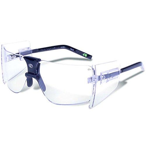 - Gargoyles Performance Eyewear 85's Polycarbonate Safety Glasses, Black Frame/Clear Lenses