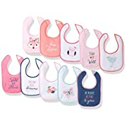 Hudson Baby Baby Drooler Bib, 10 Pack, Girl Fox, One Size