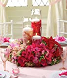 Christmas Flowers - Blushing Beauty Reception Centerpiece