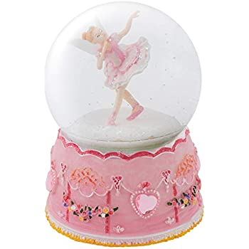 d25ee741fdd Elanze Designs Pink Ballerina Fairy Rotating Figurine 100MM Water Globe  Plays Tune Swan Lake