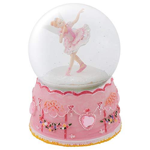 (Elanze Designs Pink Ballerina Fairy Rotating Figurine 100MM Water Globe Plays Tune Swan Lake)