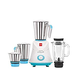 Cello GNM_Elite Mixer Grinder, 500W, 3 Stainless Steel Jar and 1 Juicer Jar (Blue)