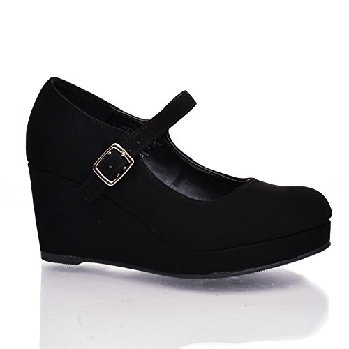 30eaeec67915 KaylaIIS Black Round Toe Children s Platform Mary Jane High - Import ...