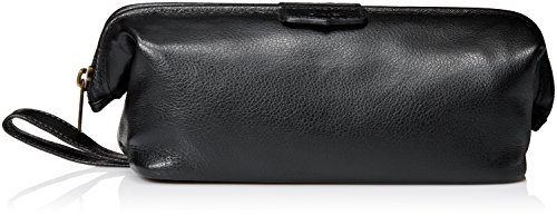 Dopp Men's Travel Express Mini-Framed Travel Kit-Leather, Black