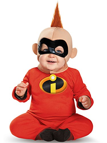 Disguise Baby Boys' Baby Jack Deluxe Infant Costume, Red/Black, 12-18 (Halloween Costumes The Incredibles Baby)