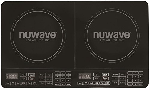 Nu Wave 30602 Double Precision Induction Cooktop Burner, Bla
