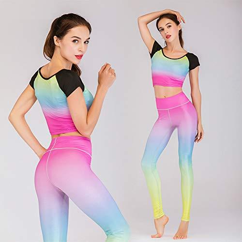 Informal Expuesto Pantalones Ombligo Moda Correr Gimnasia El Yoga Juegos Yoga 2 Traje Deportivo Para Ropa Impresos A Hogar Baile La Secado Rápido De qwCxZ4P