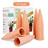 Plant Watering Stakes 6 Pack Automatic Plant Waterers for Vacations, Plant Watering Devices Terracotta Self Watering Spikes for Wine Bottles Great Plant Nanny for Indoor & Outdoor Plants
