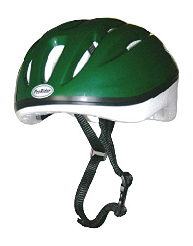 Economy Bike Helmet with White Foam, Includes Bonus Weatherproof Vinyl Permanent Adhesive Reflector Sticker, Different Colors & Sizes Available. (Green, Large/X-Large)