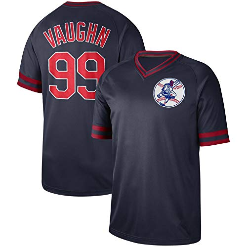 PGONENET Ricky_Vaughn_Cooperstown_Collection_Legend_V-Neck_Jersey Black Cooperstown Collection Baseball Jersey
