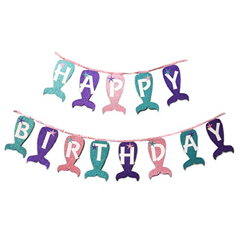 My Little Mermaid Magical Sparkle Happy Birthday Banner