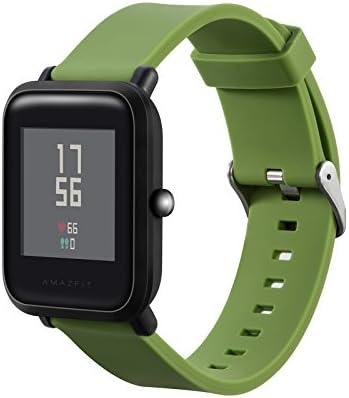 XBERSTAR Amazfit Bip バンド ベルト 交換用 シリコン製 Xiaomiシャオミ Amazfitスマートウォッチ対応 5色 (グリーン)