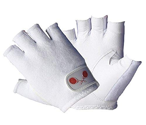 Unique Sports Tourna Women's Half Finger Tennis Glove (Medium, ()