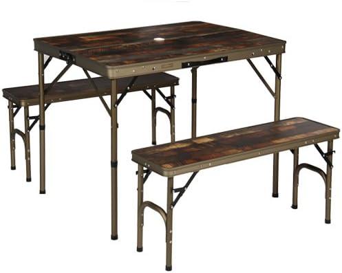 アルミ アウトドア テーブル ヴィンテージ ライン 折りたたみ式 ミニ テーブル キッチン テーブル クイックキャンプ テーブル チェアセット 90×66cm
