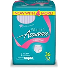 Assurance for Women Maximum Absorbency Protective Underwear Large 36 count WLM