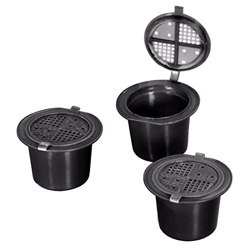 Xavax Wiederverwendbare Nespresso Kapsel für losen Espresso-Kaffee (3er Set, Coffeeduck)
