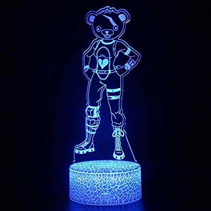 3D Lovely Cartoon Lámpara de mesa USB Night Light Decoración del hogar Regalo para niños Hollywood Movie Game Character Superhero Future Warrior