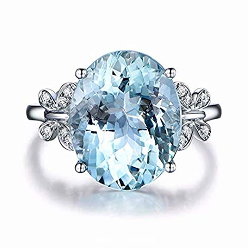 - LOSOUL Crystal Rhinestone Flower and Natural Topaz Stone Butterfly Rings for Women Vintage Jewelry