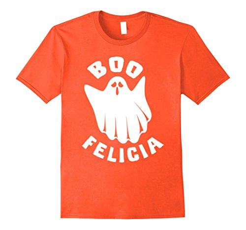 Homemade Halloween Ghost Costumes (Mens Boo Felicia Funny Halloween Ghost Costume T Shirt Medium Orange)