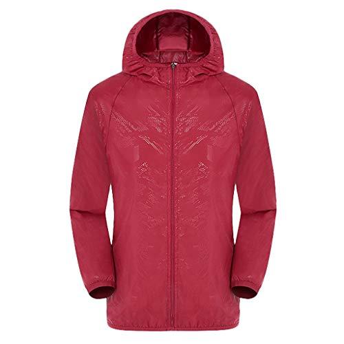 Men's Cycling Jacket Vest Windproof Water-Resistant Coat Breathable Outdoor Sportswear Red