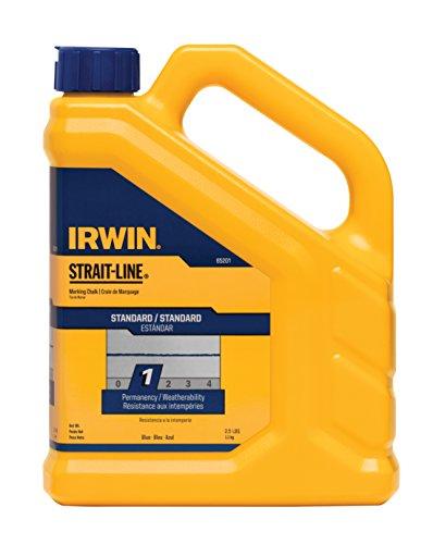 Blue Lb Chalk 2.5 (IRWIN Tools STRAIT-LINE 65201 Standard Marking Chalk, 2.5-pound, Blue (65201))