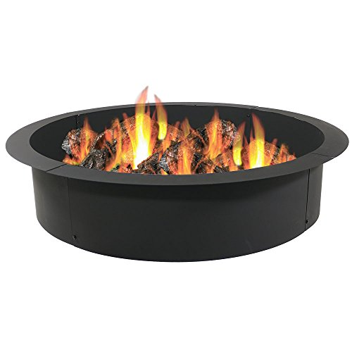 Sunnydaze Fire Pit Ring/Liner, Heavy Duty, DIY Above or In-Ground, 45 Inch Outside x 39 Inch Inside