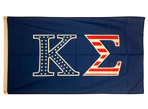 Kappa Sigma USA Letter Fraternity Flag Greek Letter Use as a Banner Sign Decor Kappa Sig (Omega Psi Phi Merchandise)