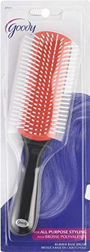 Goody Straight Talk Rubber Styler Brush, Color May Vary (Blue Goody Hair Brush)
