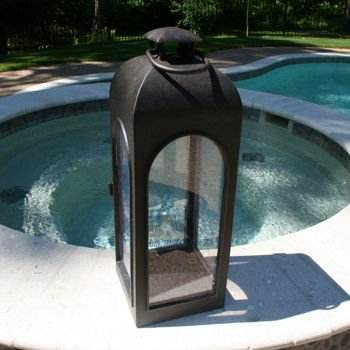 Durable Cast Aluminum, Fully Welded Construction Malta Outdoor Candle  Lantern   Extra Large