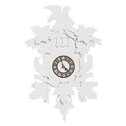 FunDeco Cuckoo Clock, White, Large