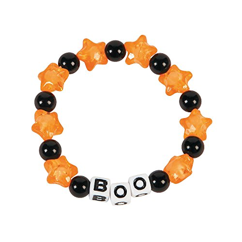 Oriental Trading Company Beaded Bracelets (Boo Beaded Bracelet Craft Kit)