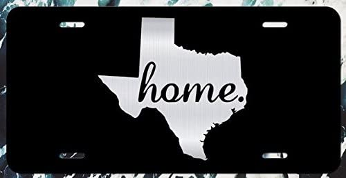 JMM Industries Texas State Home Vanity Novelty License Plate Tag Metal Car Bumper Lone Star State 6-Inches by 12-Inches Etched Aluminum ELP098
