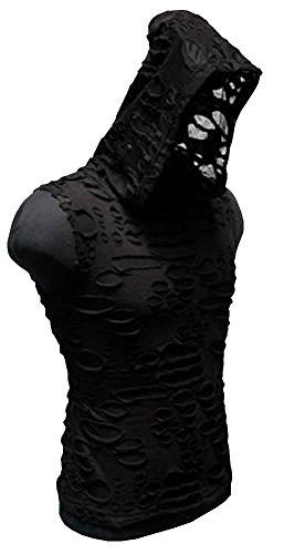 Shrine Decayed Medieval Gothic Rave Techno Cyber Goth Rocker Industrial Hoodie (XL)