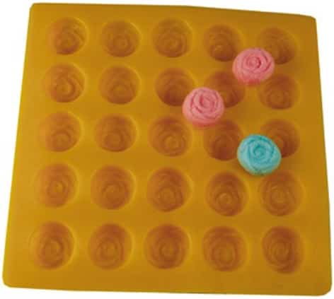 Rose Yellow Soft Candy Rubber Flexible Mold