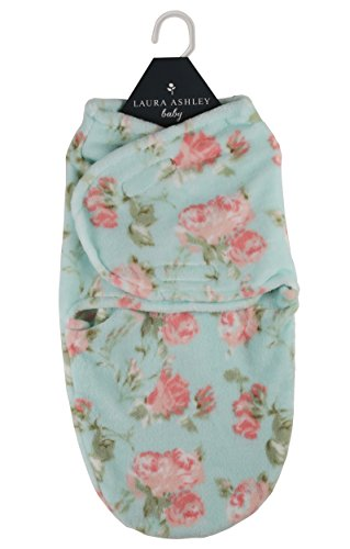(Laura Ashley Infant Swaddle Sack Mint Queensbury Print)
