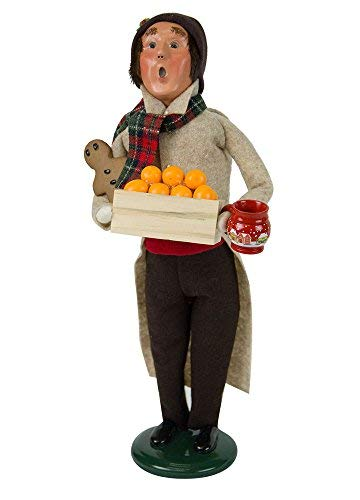 Byers' Choice Man with Gingerbread Caroler Figurine #4462D from The Christmas Market Collection