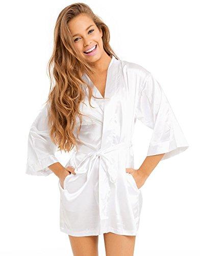 Bridal Robes Satin Robes Personalized Satin Bridal Robe (Medium) at Amazon Womens Clothing store: