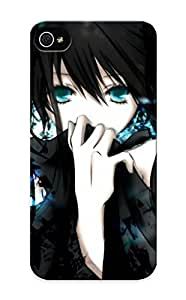 Graceyou Durable Defender Case For Iphone 5/5s Tpu Cover(Anime Black Rock Shooter) Best Gift Choice