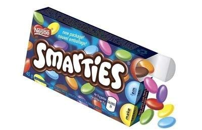 12 Boxes Nestle Smarties candy covered chocolates from - Smarties Candy With Chocolate