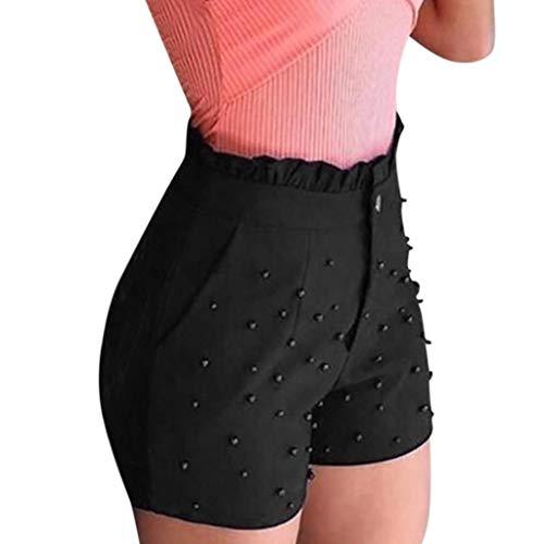 (Botrong 2019 Woman Shorts Summer High Waist Pants (Black,XXXXL))