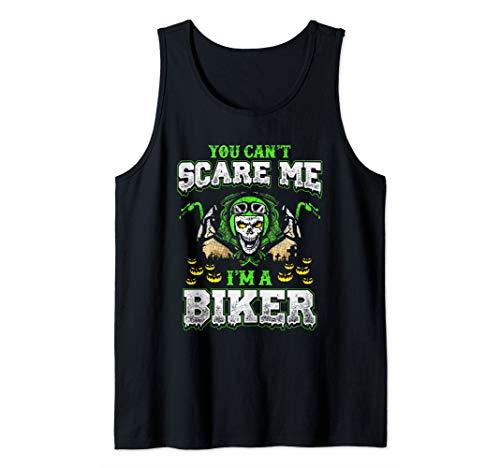 (Biker Halloween Motorcycle Skull Gift Scary Pumpkin Bike Tank)