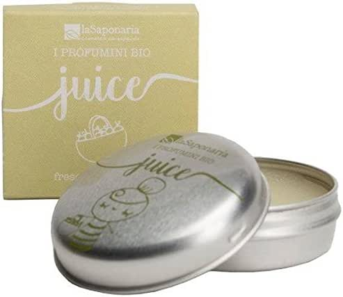 LA SAPONARIA - Solid Perfume Juice - Fresh and Sparkling - 100% Natural - Rich in Essential Oils - for Skin and Hair - Vegan - Made with Rice and Almonds Wax - 15 ml