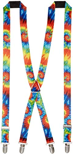 Buckle-Down Unisex-Adult's Suspender-Tie Dye, Multicolor, One Size -