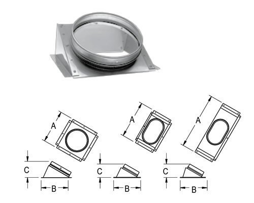 oval chimney adapter - 6