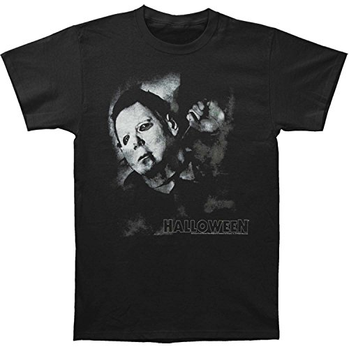 American Classics Halloween Movies Needle Cracked Logo Adult Short Sleeve T Shirt -