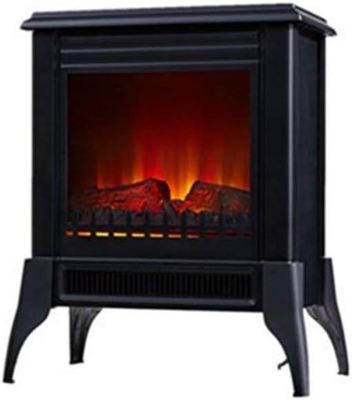 Chimenea Eléctrica de suelo tipo estufa tradicional de color negro max 2000 W PURLINE CHE-150