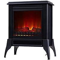 Chimenea Eléctrica de suelo tipo estufa tradicional de color negro max 2000 W…