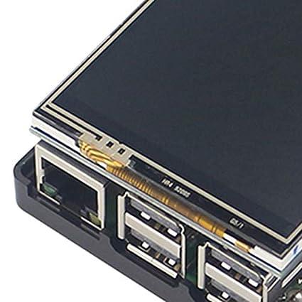 Etui Noir SODIAL pour Raspberry Pi 3 Modele B Ecran LCD Affichage avec Presse Tft Plus De 3,5 Pouces avec Un Nouveau Boitier en Plastique Abs pour Raspberry Pi 3