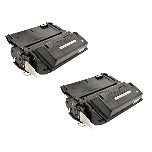 Remanufactured Replacement Laser Toner Cartridge for Hewlett Packard Q1338A (HP 38A) Black -2PK